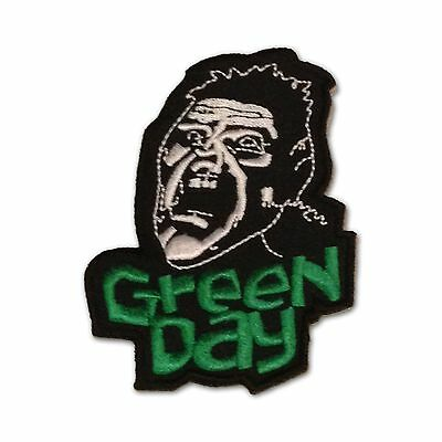 Green Day Embroidered Scream Iron-On Patch, Die Cut NEW