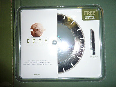 "2 EDGE SAW BLADES # 801 DRY CUTTING DIAMOND 7 1/4"" CIRCULAR & 3"" JIG SAW blade"