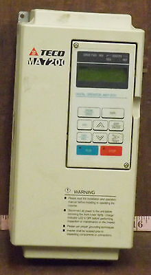 1 Used Teco-Westinghouse Ma7200-4005-N1 Variable Frequency Drive***make Offer***