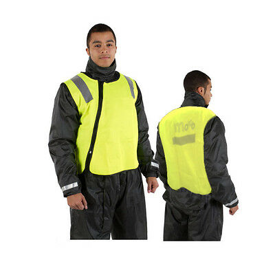 Motohart Bicycle Motorcycle Motorbike Reflective Vest Coat Hi-Vis Safety Yellow