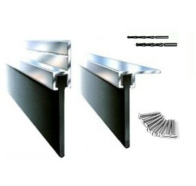 Aluminum And Rubber Fin Seal Draught Excluder Kit With Fixings And Drill Bits
