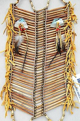 Native American Navajo 40 row Buffalo Bone Breast Plate BEIGE FULL Breastplate