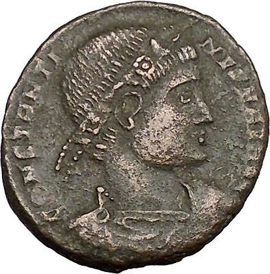 Constantine I The Great 330AD Ancient Roman Coin Legions  Glory of Army i37586