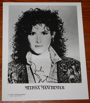 MELISSA MANCHESTER ~AUTHENTIC HAND SIGNED AUTOGRAPHED 10x8 PHOTO ~ NICE EXAMPLE