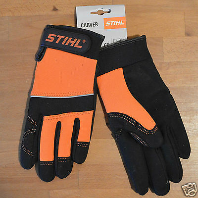 Genuine Stihl Carver Gloves High Performance Workwear Work Gloves Tracked Mail