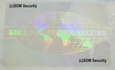 10 ID Badge or Credit Card Overlay Hologram TE #5006 Security ID Badge Pass