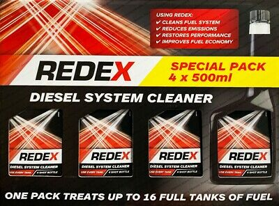 REDEX Diesel Fuel System Cleaner 4 x 500ML