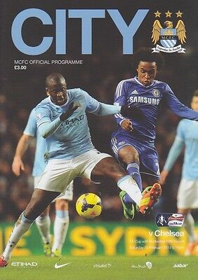 MAN CITY v CHELSEA 2013/14 FA CUP MINT PROGRAMME MANCHESTER