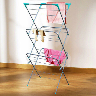 Clothes Airer 3 Tier Laundry Dryer Concerina Indoor Outdoor Patio Towel Horse