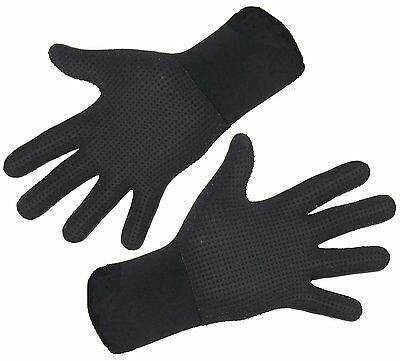 AMAZINGLY WARM - good for Raynauds - Titanium NEO 3mm wetsuit gloves grippy palm