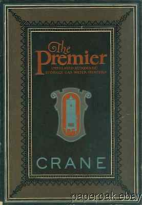 Original 1924 Crane Premier Gas Water Heater Advertising Booklet