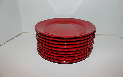 """WAECHTERBACH  GERMANY RED 11 3/4"""" DINNER PLATE  USED"""