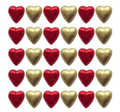 100 In Cadbury Chocolate Hearts Red And Gold-Wedding Valentine's Day Parties