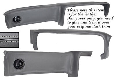 Grey Leather Fits Ford Capri Mk2 Mk3 Dash Dashboard Leather Cover Only