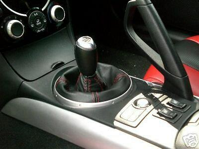 RED STITCHING REAL LEATHER MANUAL SHIFT BOOT FITS MAZDA RX8 RX-8 2004-2011