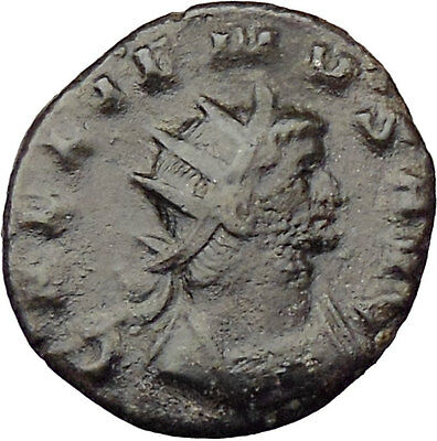 GALLIENUS son of Valerian I 254AD Rare  Ancient Roman Coin Equality Cult  i29620