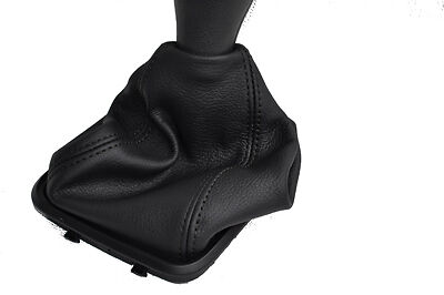 Fits Mercedes A Class W169  Mk2 Leather Gear Gaiter Black St