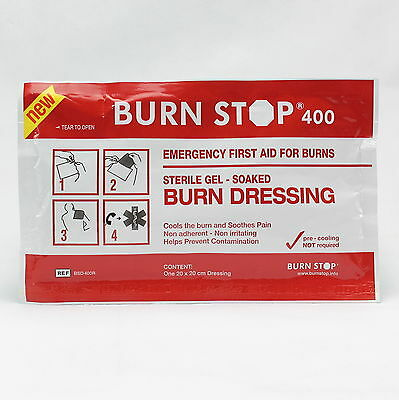 Qty 2 Waterjel Burn stop Emergency First Aid Burns Dressing 20cm x 20cm 01/2022