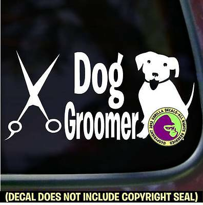DOG GROOMER Grooming Puppy Breed Shears Car Window Wall Sign Vinyl Decal Sticker
