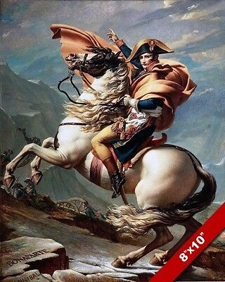 Napoleon On White Horse Fine French Art Painting Real Canvas Giclee 8X10 Print