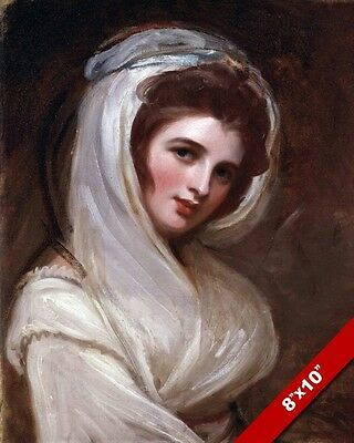 Beautiful Woman Emma Hamilton Painting Fine Art Real Canvas Giclee 8X10 Print
