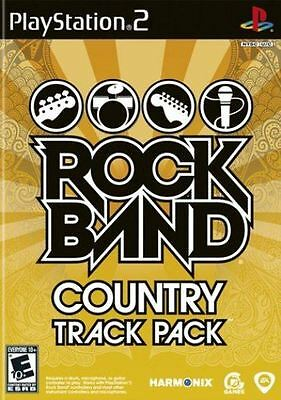 Rock Band: Country Track Pack - Guitar Bass Drums Vocals Popular Songs PS2 NEW
