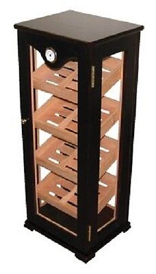 Cigar Humidor Retail Mahogany Vertical Standing Display Case Holds 100 Cigars