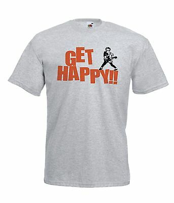 GET HAPPY funny music NEW Mens Womens T SHIRT TOP size 8 10 12 14 s m l xl xxL