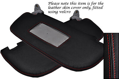Red Stitching Fits Alfa Romeo 147 01-09 2X Sun Visors Leather Cover Only
