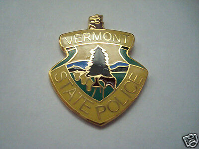 VERMONT STATE PATROL Police mini patch HAT PIN