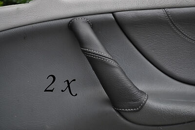 Grey Stitch Fits Mercedes Clk W208 97-02 2X Door Handle Leather Covers