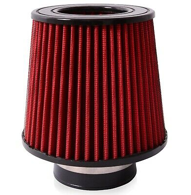 """Direnza 3"""" Universal Race Sport K&n Style Air Intake Induction Red Cone Filter"""