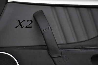 Black Stitching Fits Alfa Romeo Brera 06-11 2X Door Handle Leather Covers Only