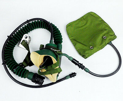 Surplus Chinese Air Force Aviation Breathing Mask Oxygen Mask Hood-D363