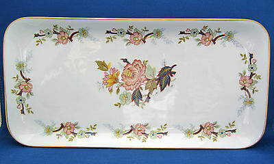 "Sandwich Tray KPM Royal Porcelain Oriental Florals Gold Trim Serving 12.75"" A++"
