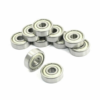 10 Pcs 627Z 7 x 22 x 7mm Single Row Shielded Deep Groove Ball Bearings