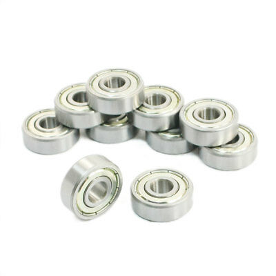 10 Pcs 628ZZ Single Row Sealed Deep Groove Ball Bearings 8 x 24 x 8mm