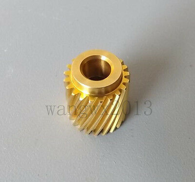 2PCS 21 teeth 0.5 mold 4.98mm hole Motor Gear Copper Right Rotary Helical Gear