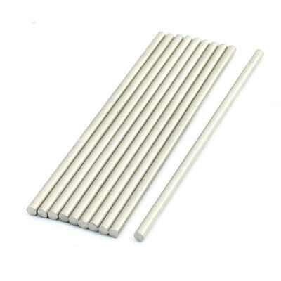 RC Car Axle 60x2mm Silver Tone Stainless Steel Round Bar Rods 10 Pcs
