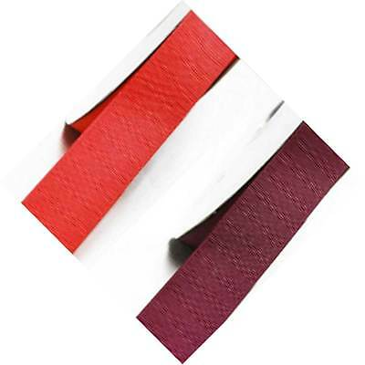 """By 5 Yards Grosgrain Ribbon 7/8"""" /22mm. Wedding, Rose to Red s color for bow"""
