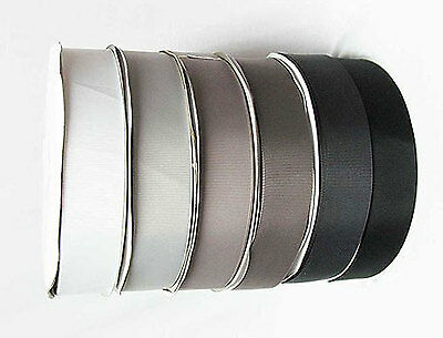 "Grosgrain Ribbon 1.5"" /38mm. per 5 Yards, white s Grey s Black s to Choose"