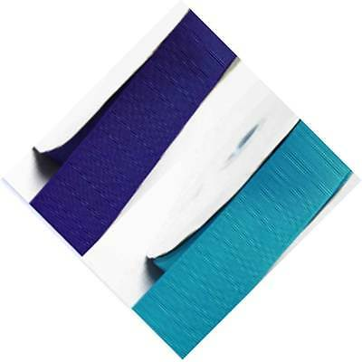 """5 Yards Grosgrain Ribbon 3/4"""" /19mm Wide,Lot BLue s #352 to #374 for bow"""