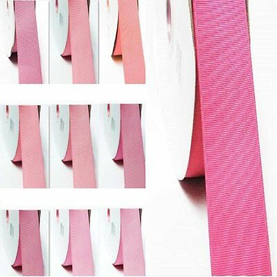 "Grosgrain Ribbon 1.5"" /38mm. for Wedding 5 Yards All Pink s to Choose"