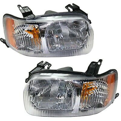 Halogen Headlight Set For 2001-2004 Ford Escape Left & Right w/ Bulb(s) Pair