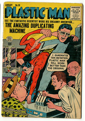 Plastic Man No. 58, Cream to Off White Pages, VG