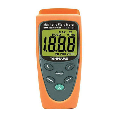 Gaussmeter EMF Magnetic Field Gauss Meter 30-300Hz Electromagnetic Wave 2000mG