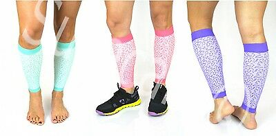 Set of 2 Pairs - Fashion Calf Compression Sleeve - 4 Sizes & 3 Colors