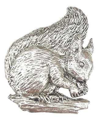 Squirrel Finely Handcrafted in Solid Pewter In The UK Lapel Pin Badge
