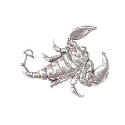 Scorpion Finely Handcrafted in Solid Pewter In The UK Lapel Pin Badge