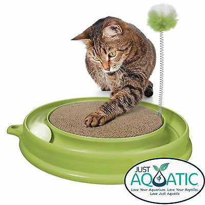 FREE SHIPPING Catit PLAY N' SCRATCH Rotor Cat Toy Great Training Scratcher NEW